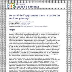 ED130 - Sujets de doctorat