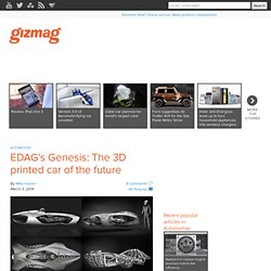 EDAG's Genesis: The 3D printed car of the future