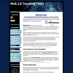 Edcanvas, a Web 2.0 tool supporting important 21st century learning skills