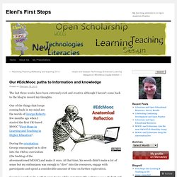 Our #EdcMooc paths to Information and knowledge