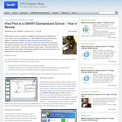 iPad Pilot at a SMART-Standardized School – Year in Review