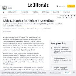 Eddy L. Harris : de Harlem à Angoulême