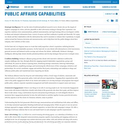Public Affairs - Capabilities
