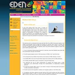 Eden - West Nile Virus / Emerging diseases / Home