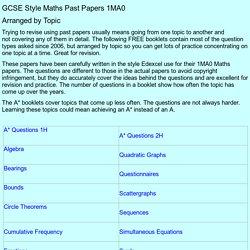 Edexcel intermediate maths past papers gcse