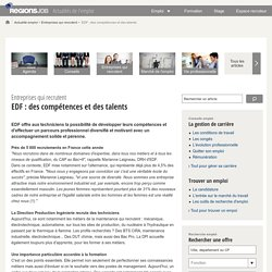 EDF : des compétences et des talents