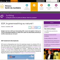 2. EDF, le greenwashing au naturel !