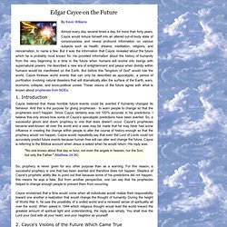 Edgar Cayce on the future