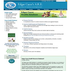 Edgar Cayce Health Database