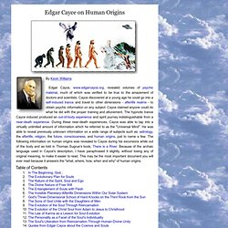 Edgar Cayce on human origins