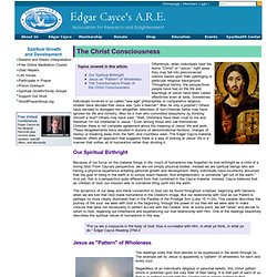 Edgar Cayce A.R.E. The Christ Consciousness