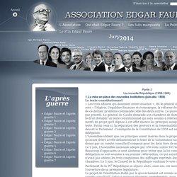Edgar Faure et l'après guerre 3