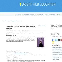 Edgar Allan Poe Webquest and Background