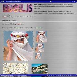 edge.js (javascript image mask effect)