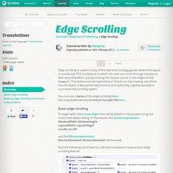 Edge Scrolling