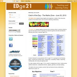 Catch of the Day - The Maths Zone - June 30, 2010
