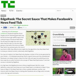 EdgeRank: The Secret Sauce That Makes Facebook's News Feed Tick