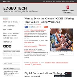 Your Place for all Things Ed Tech in Extension