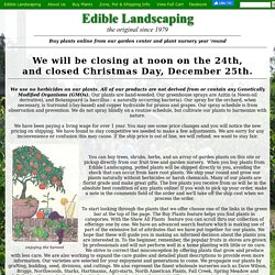 Edible Landscaping Plant Sale: Buy plants online from our garden center and plant nursery