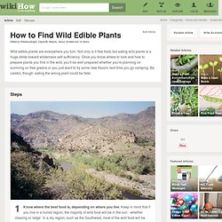 How to Find Wild Edible Plants: 15 Steps