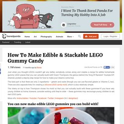 How To Make Edible & Stackable LEGO Gummy Candy