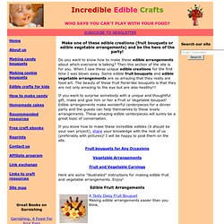 Edible Creations How to – fruit bouquets and edible vegetable arrangements from EdibleCraftsOnline.com