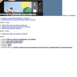 Taller Edición Multimedia con tabletas
