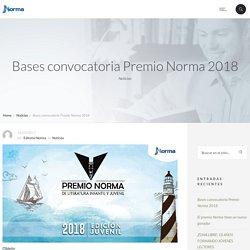 Bases convocatoria Premio Norma 2018