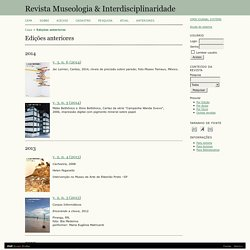 Revista Museologia e Interdisciplinariedade