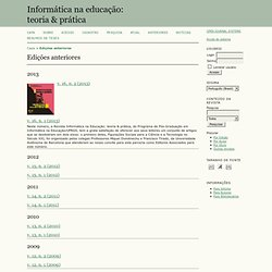 Informática na educação: teoria & prática