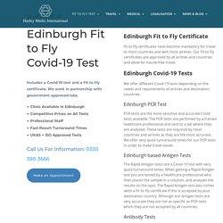 Edinburgh Fit to Fly Covid Test