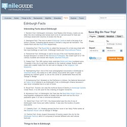 Edinburgh Facts - Interesting Facts About Edinburgh, United Kingdom
