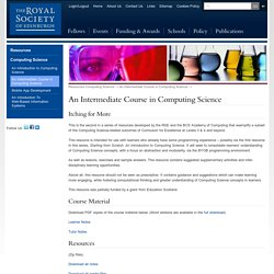 An Intermediate Course in Computing Science