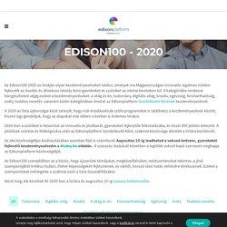 Edison100 2020 - Edisonplatform