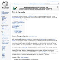 Édit de Caracalla