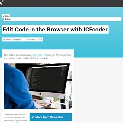 Edit Code in the Browser with ICEcoder