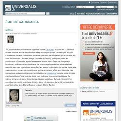 ÉDIT DE CARACALLA, en bref