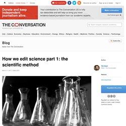 How we edit science part 1: the scientific method