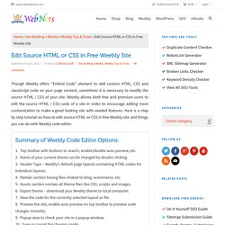 Edit Source HTML or CSS in Free Weebly Site » WebNots