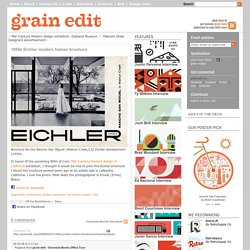 grain edit1950s Eichler modern homes brochure