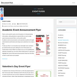 11 Editable Event Flyer Templates For MS WORD