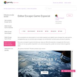 Editar Escape Game Espacial
