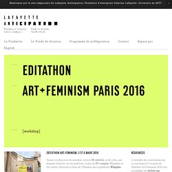 Editathon Art+Feminism 2016 —