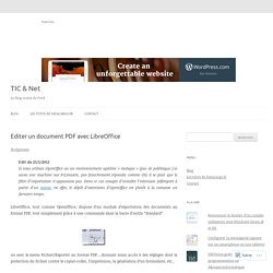 Editer un document PDF avec LibreOffice