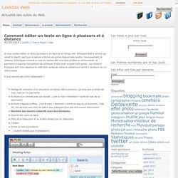 Editer un texte en ligne à plusieurs: 7 solutions clone etherpad