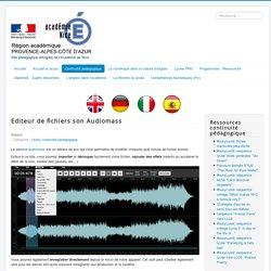 Editeur de fichiers son Audiomass