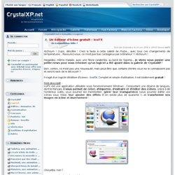 Un éditeur d'icône gratuit : IcoFX - CrystalXP