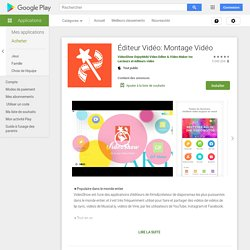 VideoShow: Movie maker &Editor – Applications Android sur GooglePlay