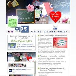 Editeur d'images en ligne - Online Picture Editor
