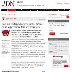 Rovio, l'éditeur d'Angry Birds, dévoile pour la première fois ses résutlats